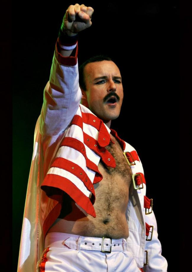 OUTRAGEOUS: Rob Comber reprises the role of Freddie Mercury.