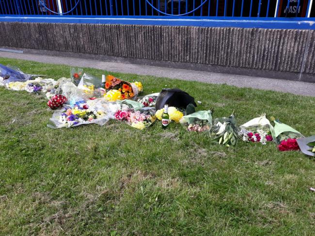 Flowers and beers have been laid in memory of Luke Barron