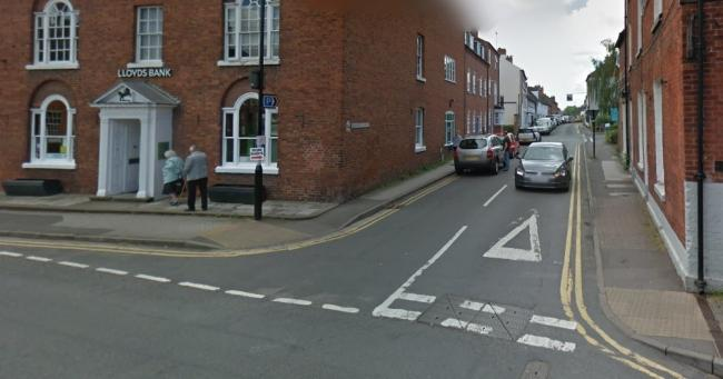 The robbery took place in Bleachfield Street in Alcester