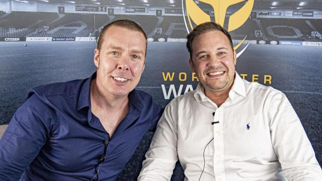 Owners Jason Whittingham and Colin Goldring (right). Picture: WORCESTER WARRIORS