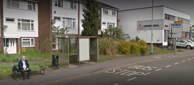 The bus stop on Birmingham Road has seen better days. Picture: Google Maps.