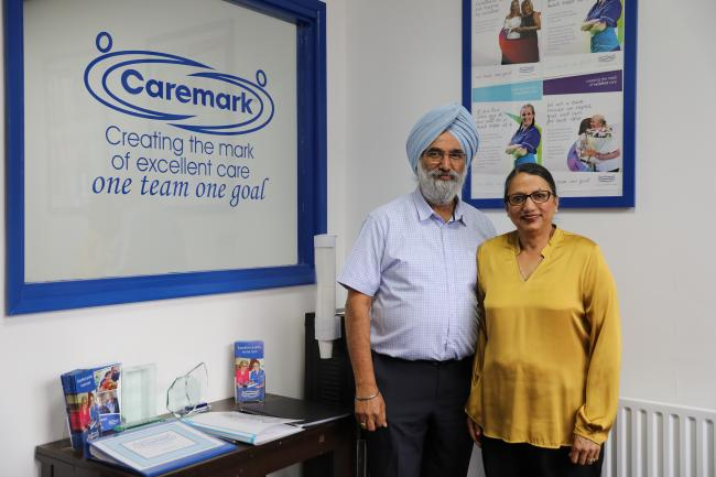Amarjit and Sharon Gill from Caremark Redditch & Bromsgrove