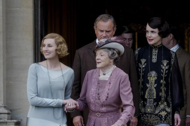 An image from the upcoming Downton Abbey film, which is released in UK cinemas on September 13