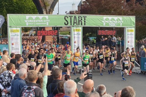 RECORD: Around 4,300 runners took part in the 2019 City Run. (Inset): Paula Radcliffe during the 2014 City Run