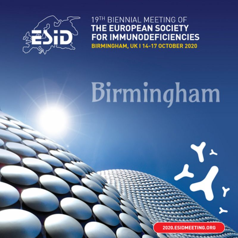 The 19th Biennial Meeting of The European Society of immunodeficiencies