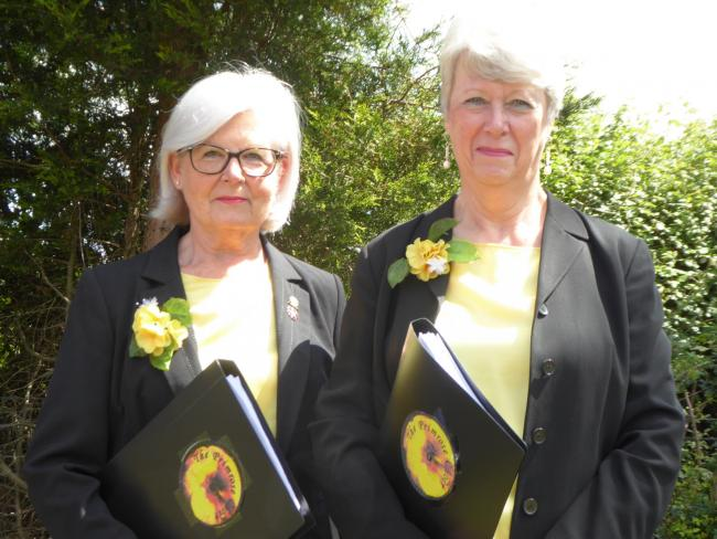 Sue Rea and Sue Castle from the Primrose Choir