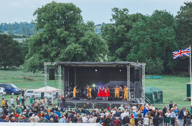 The Jive Aces at Swingtime In The Gardens earlier this year