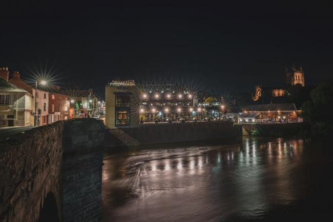 The old bridge in Hereford by night. Picture taken last week by Manny Diez