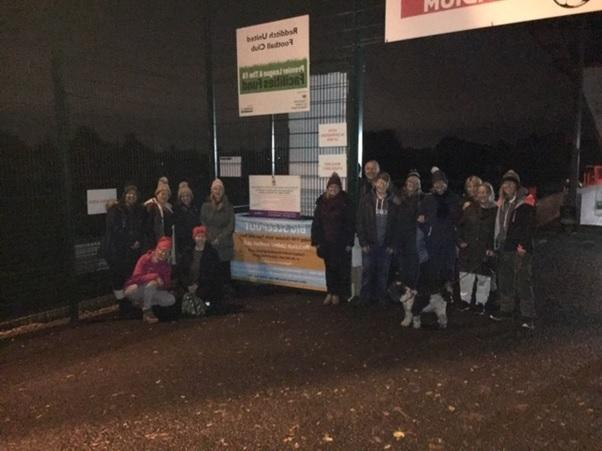 Some of the volunteers braving the cold for Redditch Nightstop