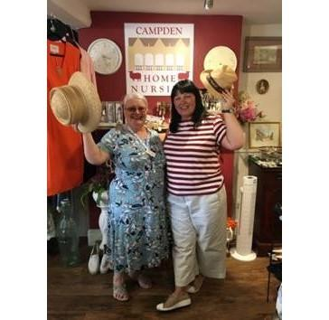 Volunteer Yvonne Butler, left, and Kate McPhearson-Smith, manager of the Campden Home Nursing Charity Shop
