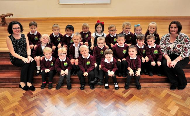 The Reception Class at The Grove Primary School, Pickersleigh Grove, Malvern. 24.9.19.