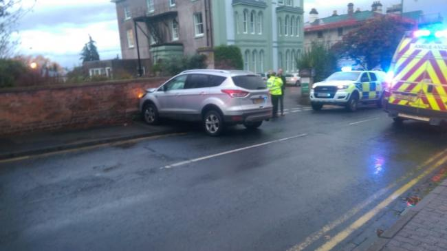 CRASH: Car crashed into wall in Church Street, Malvern