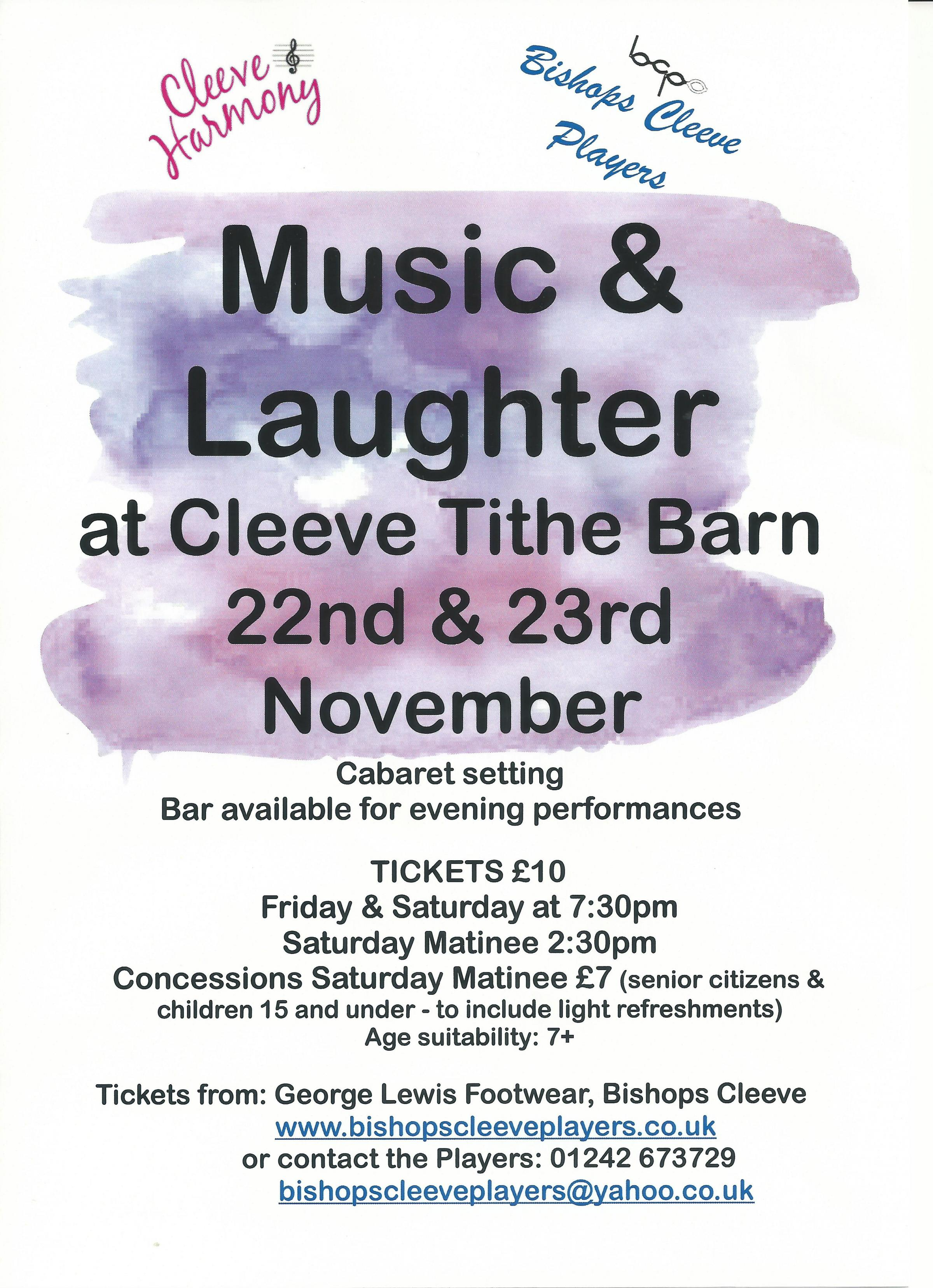 Music & Laughter at Cleeve Tithe Barn