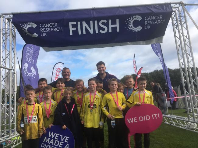 Kidderminster Athletic Hawks after their recent mud run