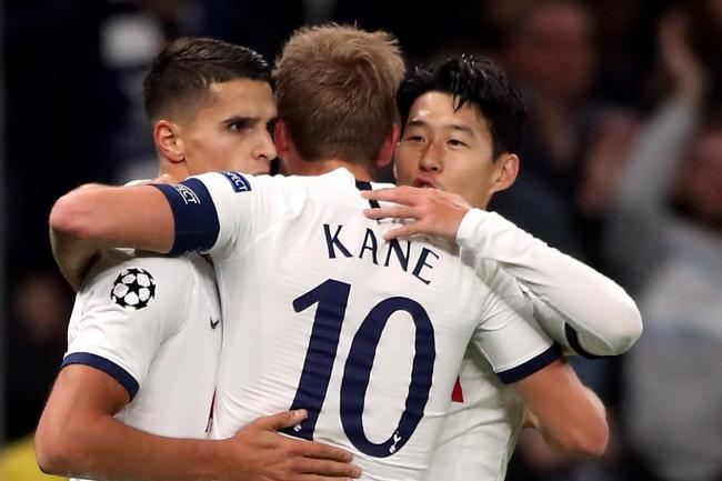 Son Heung-min, right, and Harry Kane both scored twice for Tottenham
