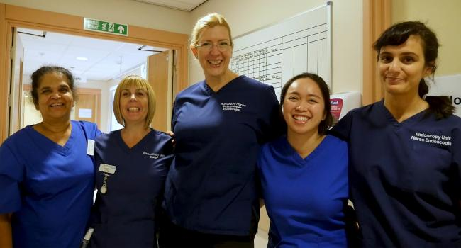 Staff from the Endoscopy Unit at Alexandra Hospital