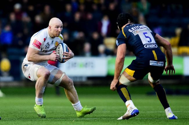 Former Worcester Warriors team-mates Matt Kvesic and Graham Kitchener face each other at Sixways. Picture; Ryan Hiscott/JMP