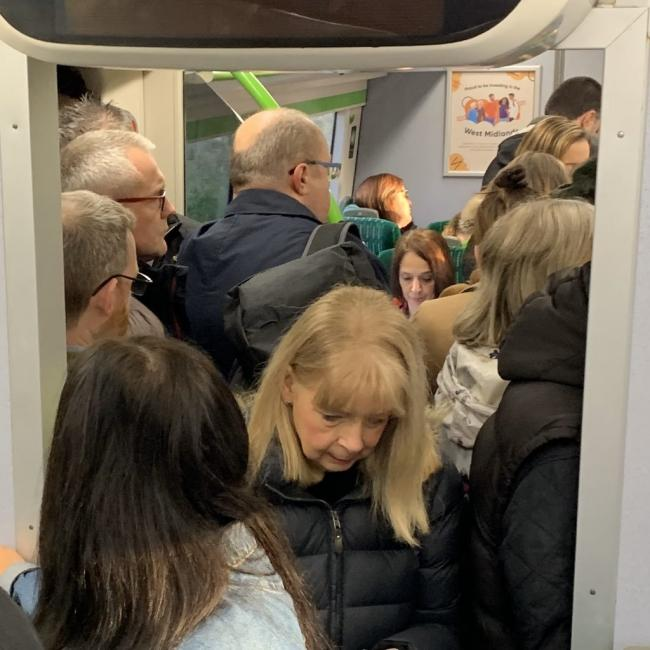 CROWDING: Services on West Midlands Rail continue to be overcrowded