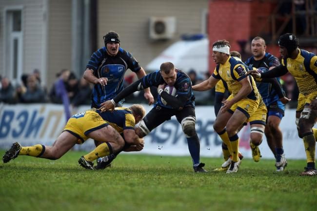 Worcester Warriors in action against Enisei-STM in 2016. Picture; ENISEI-STM