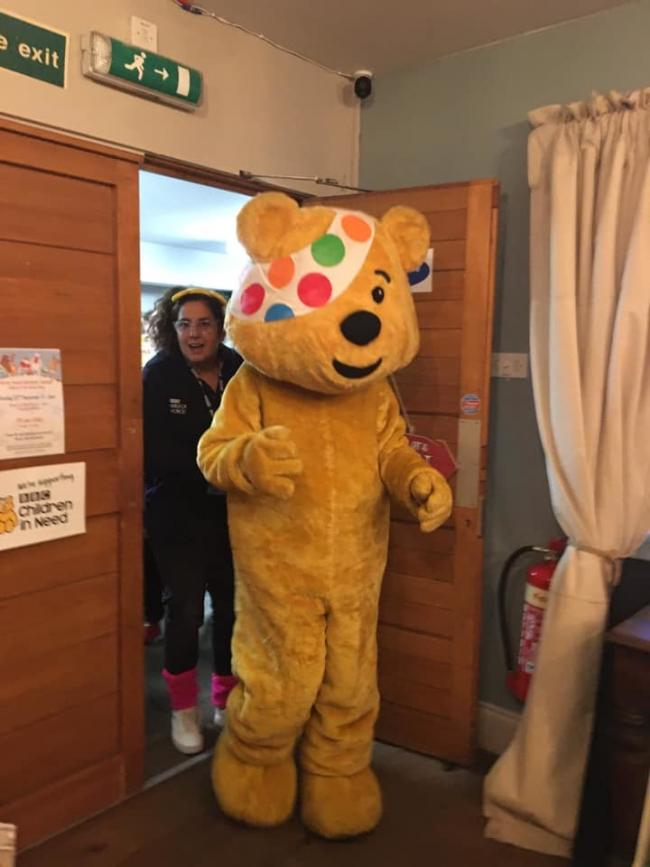Pudsey visits children at Norton Parish Hall