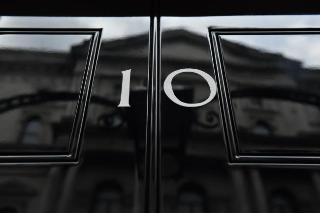 The front door of number 10 Downing Street in London. Photo: PA