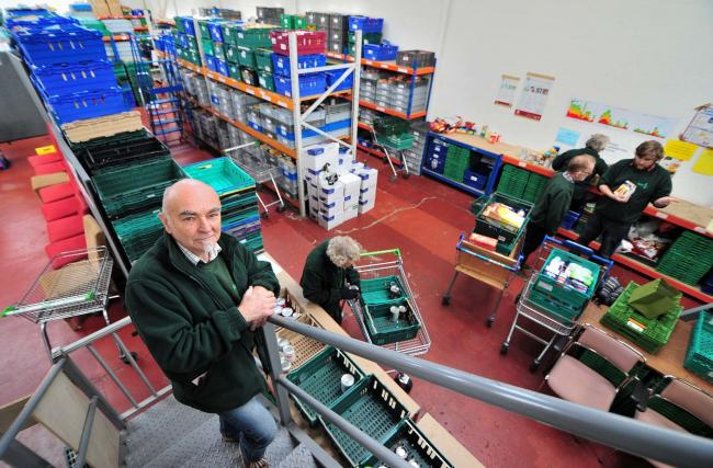 Grahame Lucas, manager of Worcester Foodbank, Lowesmoor, Worcester. Picture: Jonathan Barry