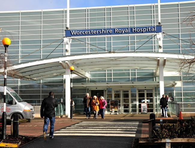 A man died while being stuck in an ambulance for an hour, outside Worcestershire Royal Hospital