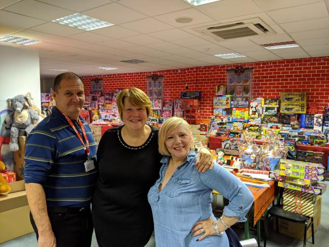 Volunteers Trevor Fielding, left, and Rose Cook Monk, right, pictured with Eileen Fielding of DCVS, centre. Pic courtesy of Mark Binnersley