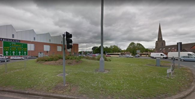 Steels roundabout in Hereford city centre. Picture: Google