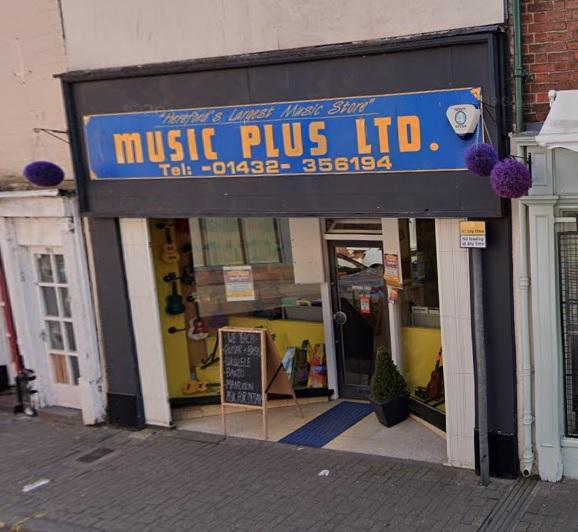 Music Plus, Hereford, is to close. Picture: Google