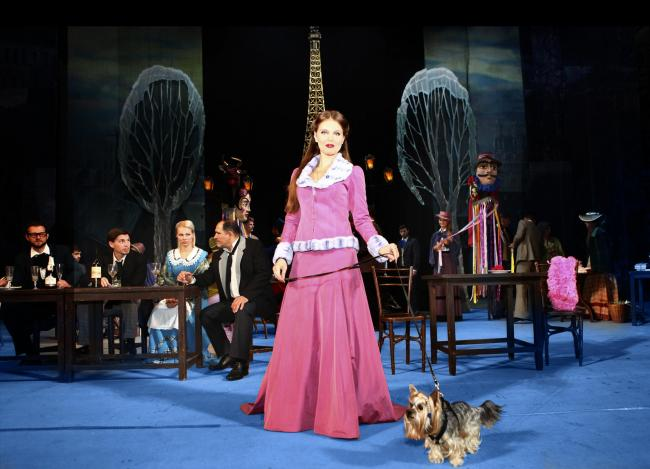FOUR-LEGGED STAR:  A scene from La Boheme, an opera in need of a star dog.