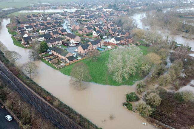 Flooding in Lower Bullingham, Hereford