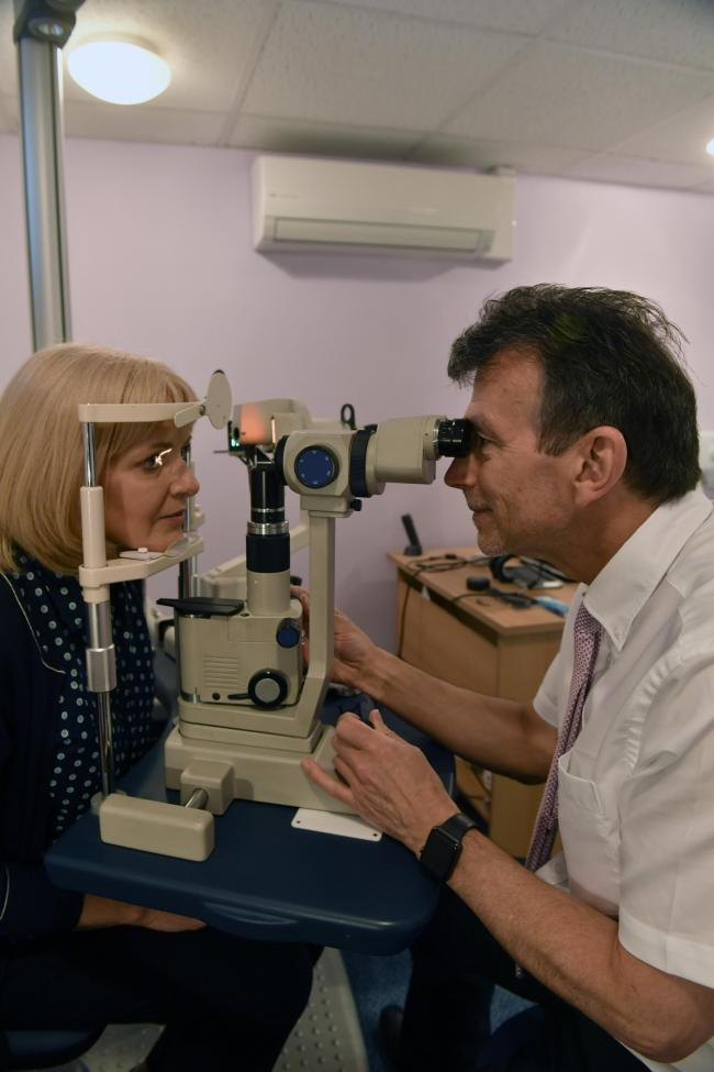 File picture of an optician with a patient. Picture: Stuart Walker