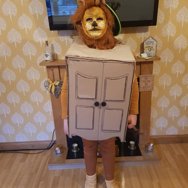 Elliott 10 as BB8 starwars Rosie 12- the lion the witch and the wardrobe. Both attend St Bedes middle school.