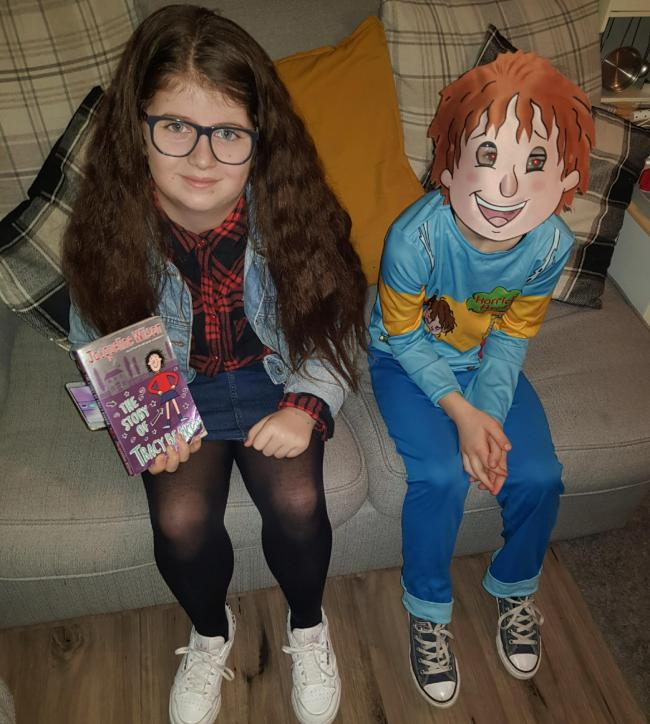 Ruby 10 as Tracy Beaker & Millie 8 as Horrid Henry.
