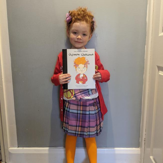 Nancy Stokes- age 5 ,was pleased her picture has been seen by the author and the illustrator of her book on Instagram