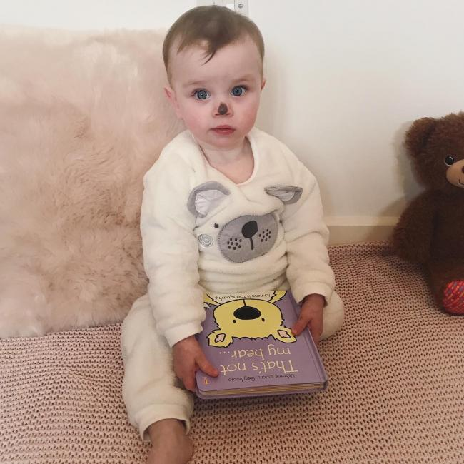 I totally forgot it was World Book Day but didn't want to let it pass without doing anything. So we improvised! Indie does genuinely love this book though, which helped! She loves sticking her tongue out, just like the polar bear in the book!