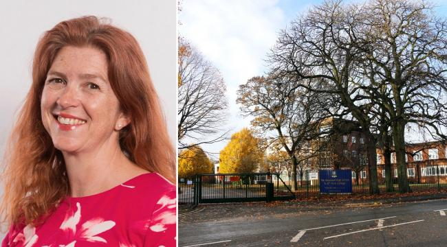 Principal Lorna Deakin is standing down as headteacher of Stourport High School due to ill health. Left-hand photo by M J Jones