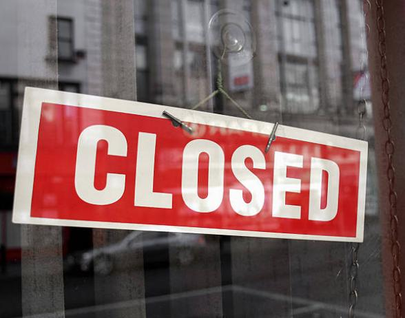 Shops closed due to coronavirus lockdown - Pic. Getty
