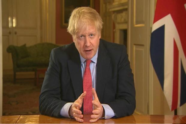 Boris Johnson, pictured addressing the nation last month, was placed in intensive care on Monday evening (April 6, 2020)