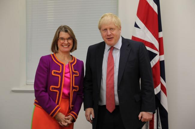 Rachel Maclean MP with Prime Minister Boris Johnson.