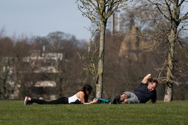 RISKS: Members of the public sunbathe as the UK continues in lockdown. Photo:Aaron Chown/PA Wire