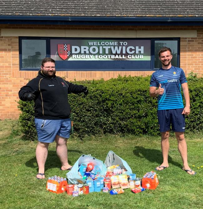 HELP: Craig Browne (left) with Dan Hart (right) from the Worcester Warriors Community Foundation