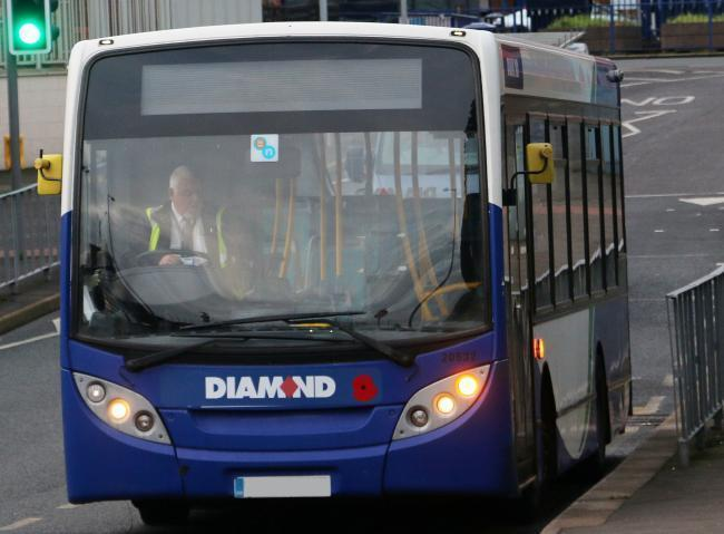 A woman was verbally and physically assault happened on the number 58 Diamond Bus yesterday.