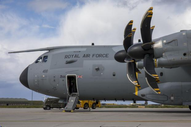 Redditch Advertiser: This is an Airbus A400M Atlas, the type of airfact seen over Glasgow in recent weeks (Image: RAF)