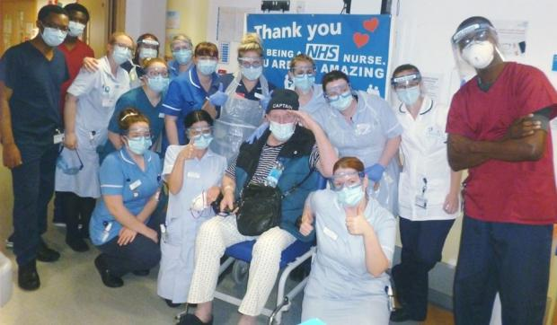 Redditch Advertiser: Worcestershire's first confirmed coronavirus patient Roger Harris, aka Captain Crazy, leaves hospital