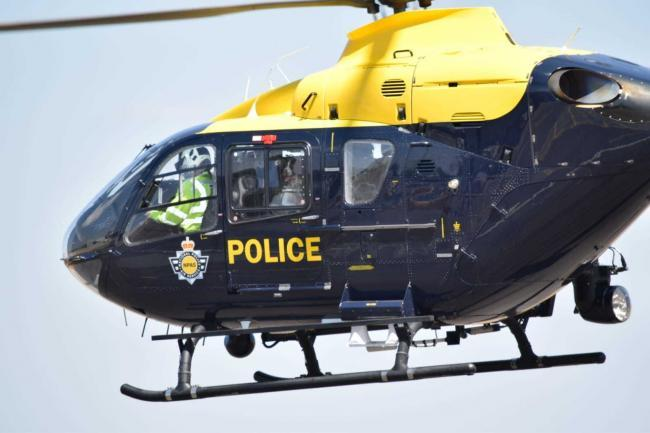 The police helicopter was involved in following a car that failed to stop for police in Brierley Hill