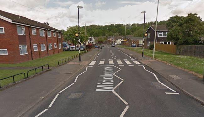 Middlepark Road in Dudley. Image: Google Maps.