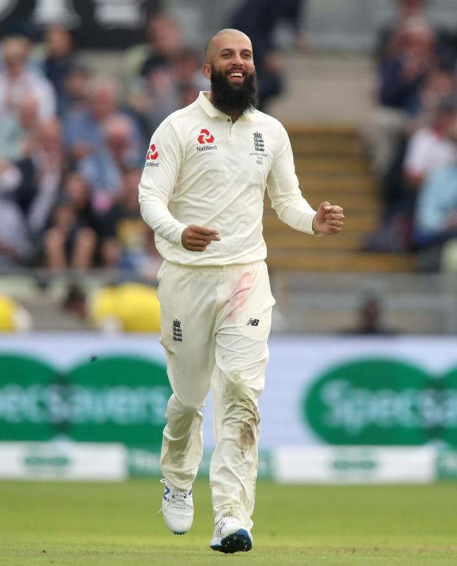 CELEBRATION: Moeen Ali is back in the England frame. Pic. Nick Potts/PA Wire.