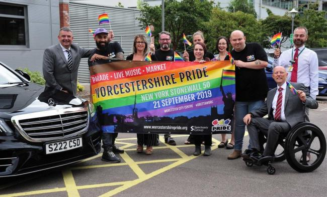 EVENT: Mathew Skilbeck, chairman of Worcestershire Pride, says he's 'relieved' to finally get payment after two years